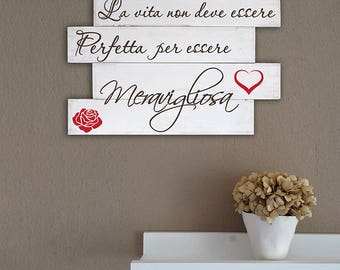Handmade decorative wall panel wooden shabby chic style home decor modern wall decoration sentence P48