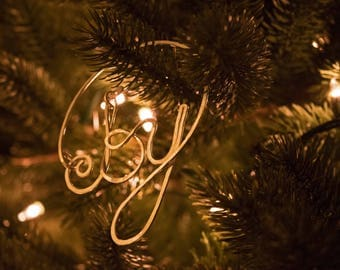 Joy word ornament  Etsy