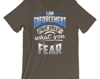 Law Enforcement Thin Blue Line Police Officer Support Short-Sleeve Unisex T-Shirt
