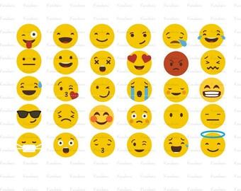 30 Emoji SVG,Emoji svg files,Emoji vector files |ai Files dxf Files SVG Files, Cricut Cut Files, Silhouette Cut Files
