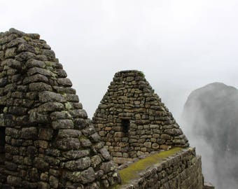 Machu Picchu Photo, Digital Download, Travel Photography, Foggy Machu Picchu, Printable Wall Art, Home Decor, Wall Decor, Travel Decor, Peru