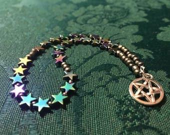 Pagan Prayer Beads Witch Witchcraft Stars Pentagram Pentacle