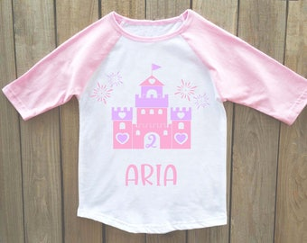 Princess castle birthday shirt, princess birthday, princess castle, castle, princess shirt, girls princess party, princess birthday party