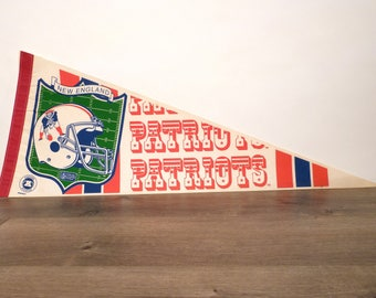 Large New England Patriots Pennant - 1980's