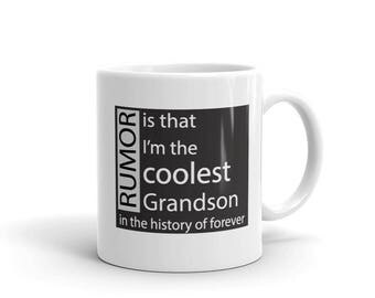 Gift for Grandson History Is That I'm The Coolest Grandson In The History Of Forever Mug for Grandson