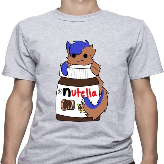 Nutella Cat shirt/ Anime/ I Love Nutella/ Chocolate tshirt/