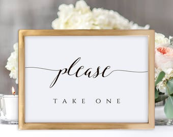Please Take One Sign, Favors Sign, Please Take One, Wedding Favor Sign, Favors Please Take, Party Favors Sign, Favor Table Sign, Candy Sign