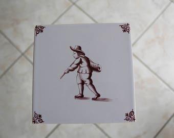 Old Dutch decorative tile