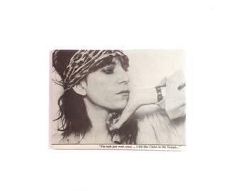 Large Fridge Magnet - 1978 Patti Smith - 70's Rock Singer Gift Woman Power Poet Punk Rebel Feminist Musician Gift Rock'n'Roll - No US 25