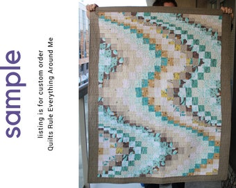 modern baby quilt, throw, or lap quilt - custom made to order