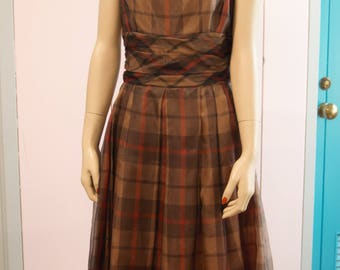 Jonathan Logan Brown Plaid dress