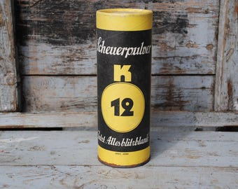 K12 scouring powder-Original from the Fifties-cleans all flash blank-unopened original packaging-rare collector's item
