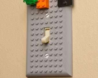 Lego single light switch cover plate