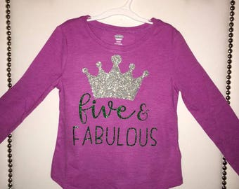Five & Fabulous Birthday Shirt