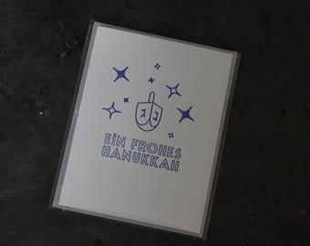 Happy Hannukah (in German) card
