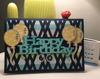 60 years old Birthday card