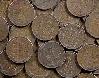 275 un-searched lot of wheat pennies teens through 1950s dates, old copper wheat cents group of 275 coins, bulk order