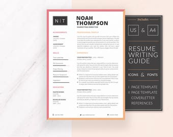 Professional Resume Template | Resume Template for Word | CV Template + Cover Letter & References | Modern Resume | Instant Download | NOAH