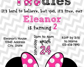 Minnie Mouse Birthday Invitation!