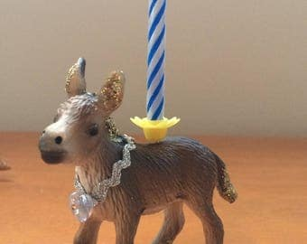 Donkey animal candle