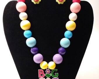 Big sis bubblegum necklace