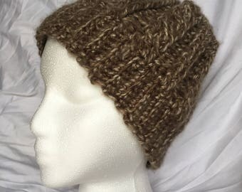 Hand Crocheted Messy Bun Hat