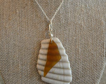 Brown Sea Glass and Shell