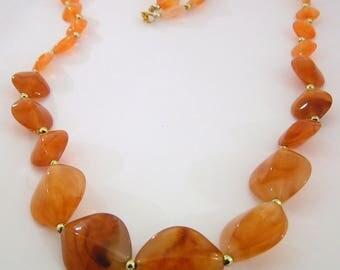"""28"""" Acrylic, Orange Necklace"""