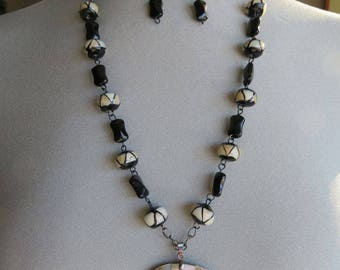 Jewelry Set 3 piece Mother of Pearl