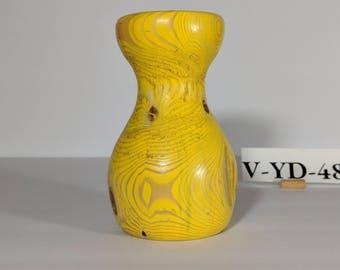 Yellow cedar vase