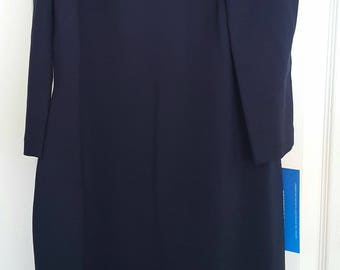 Navy Eliza J Open Shoulder Dress SIZE 8