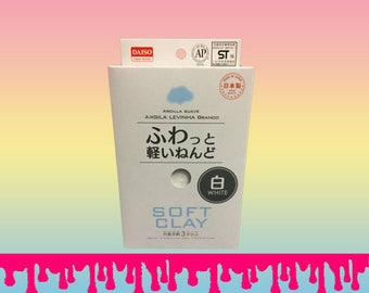 Daiso Clay, White, White Daiso, White Clay, DIY Clay, Air Dry Clay, Soft Lightweight, Clay for Slime, Butter Slime Clay, SlimeCentral805