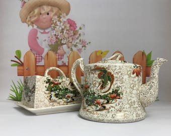 Vintage T Forester Teapot and Butter Dish