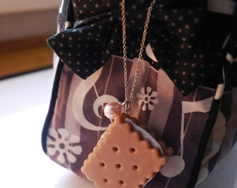 Bag Charm / Cookie jewelry / Sandwich biscuit / Kawaii