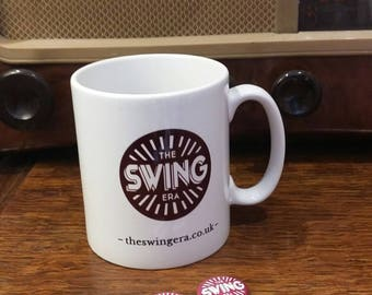 The Swing Era Mug & Pin Badges (2x) | Love Vintage | Lindy Hop | Swing Dance | Jazz | 1920s 1930s | Bringin' it Back | Official merchandise