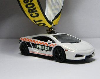 Gallardo   FREE SHIPPING   Valentines Day Ornament   Lamborghini LP 560   4  Police Car