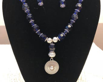 Midnight blue glass beads