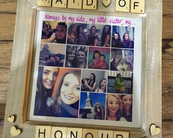 Bridesmaid Maid of Honour Scrabble Frames