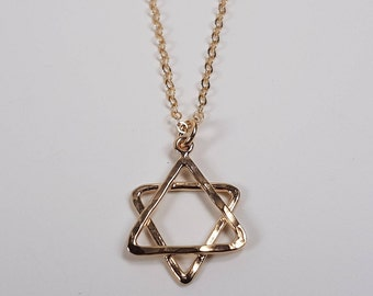 New Collection Gold-fill hand made Star of David pendant. 25% Off. Free shipping