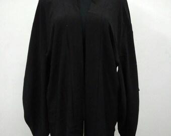 Japanese haori kimono black silk kimono jacket /kimono cardigan/kimono robe/#057