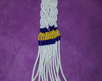 Vintage beaded Massai collar necklace from Kenya