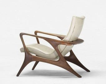Handmade Z chair with noble brazilian wood recycled - certified  eco-friendly