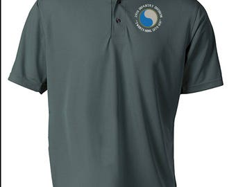 29th Infantry Division -Embroidered Moisture Wick Polo Shirt -7576