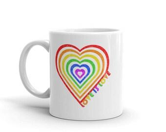 Love is Love Gay Pride Coffee Mug/ LGBT Coffee Mug/ LGBT Gifts