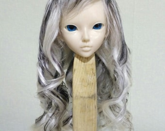 "Wig for Minifee, bjd ,MSD ,MNF, 7-8"" wig,Size 7-8"",goat wig,natural goat,minifee ,wig minifee MSD"