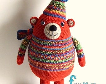 Bear. Knitted toy Bear Mikhey. Toy for a game and an interior.