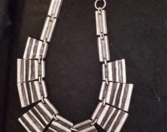 Avant-garde, design-necklace, silver