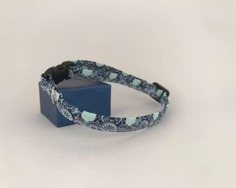 Small Pet Collar, Blue Zen