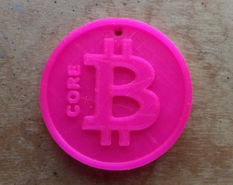 Bitcore keyring 3D printed cryptocurrency