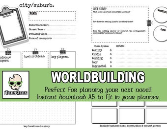 Worldbuilding Planner for Writers